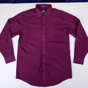 Stafford Wrinkle-Free Pink Long Sleeve Dress Shirt